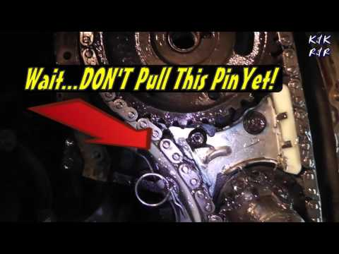 How to Replace A Broken Timing Chain Pontiac Sunfire 2 2L PT. 5 Timing Chain & Guide Installation