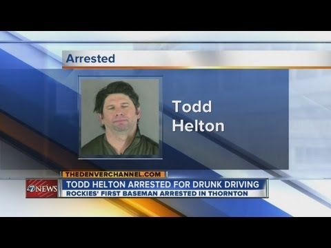 Colorado Rockies first baseman Todd Helton arrested on DUI