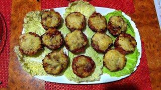 Мясной кекс с начинкой из грибов. Блюдо праздничного стола готовим - вкусно.