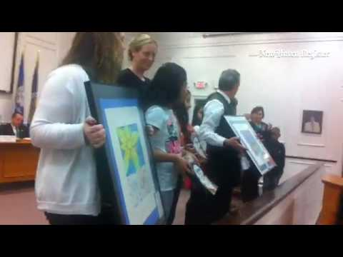 #WestHaven Bd. of Education honors 4 Savin Rock School artists for artwork, to be donated to city an