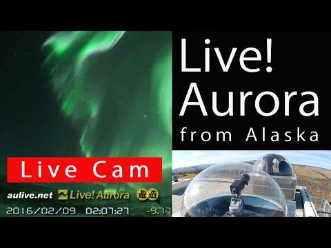 [Live] オーロラ・流星生中継 アラスカ -- Aurora (northern lights) live from Fairbanks/Alaska