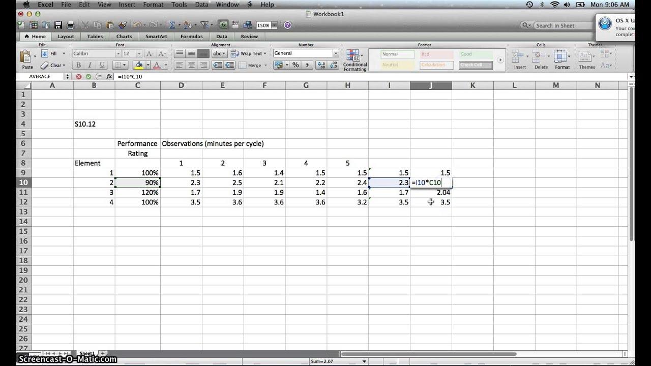Time Study Dataysis