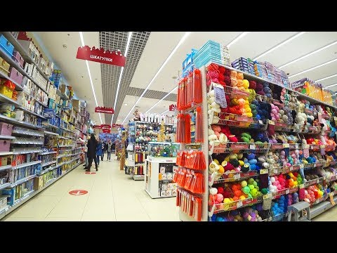 Inside the biggest & most famous RUSSIAN HOBBY LOBBY? No, Shopping in LEONARDO with Different Russia