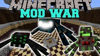 Minecraft: MUTANT SPIDER WAR - Mod War Battle (Giant Beasts With Deadly Abilities!) Mods