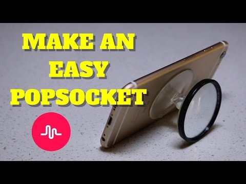 HOW TO MAKE A POPSOCKET FOR musical.ly | SUPER EASY WITH SELFIE MIRROR
