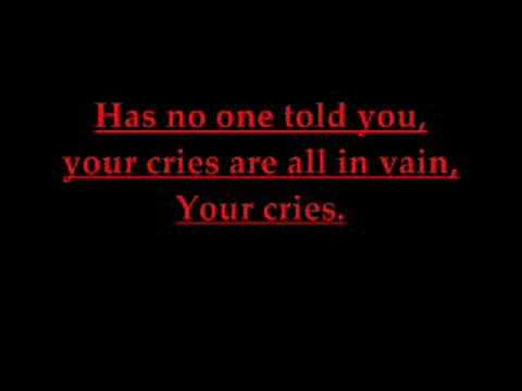Bullet For My Valentine - Cries In Vain (Lyrics)