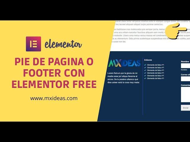💡 Crear pie de pagina o footer  Elementor Free!!