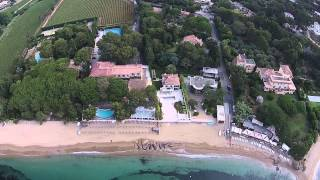 ST tropez | La Croix-Valmer - Hotel la Pinède Plage | Aerial view dji phantom 2 vision +