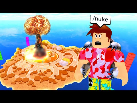 I Tried The NUKE Command.. The OWNER Did Not Like That.. (Roblox)