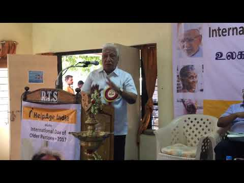 Speech by Advocate Mr. Arunachalam on the day of Observance of International Day of Older Persons,