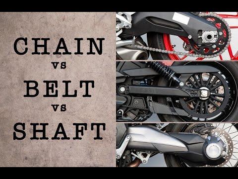 CHAIN vs BELT vs SHAFT - Which System is Best?   MC GARAGE