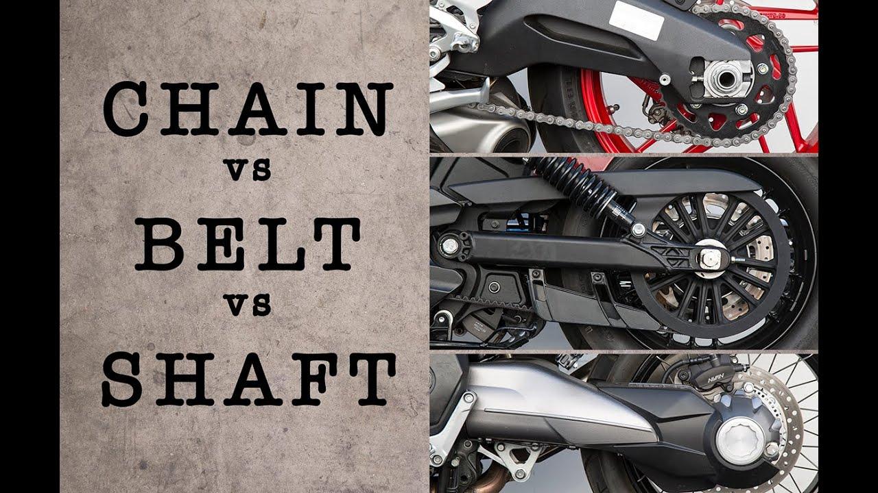 Motorcycle Chain Vs Belt Shaft