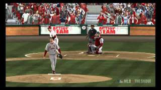 MLB 11 The Show - Cardinals@Reds: John Smiley Monster Homerun