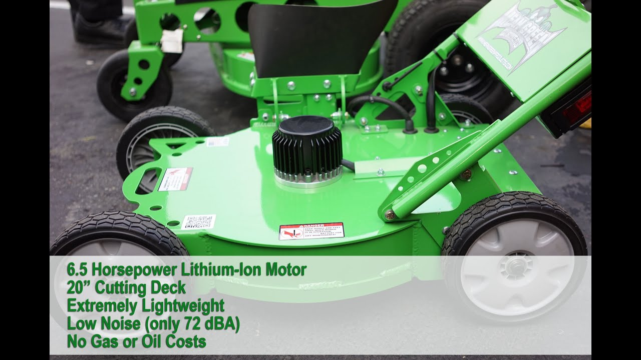 Mean Green Mpg 20 Lithium Ion Battery Powered Lawn Mower