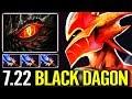 NEW IMBA BLACK DRAGON 7.22 Scepter DK 56 Armor Dota 2 gameplay