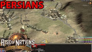 Rise Of Nations : Extended Edition Six Player Skirmish Free For All Gameplay (Persians)