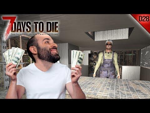 7 DAYS TO DIE #D28   SACANDO LA PASTA A PASEAR :D   Gameplay Español