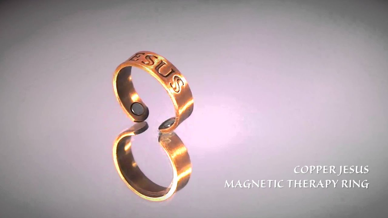 Copper Magnetic Therapy JESUS Ring - YouTube