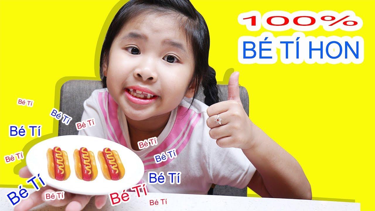 BỐ ƠI CON ĐÓI! 100% BÁNH MÌ TÍ HON GUMMY HOT DOG ♥ BÉ BÚN - BÉ BẮP ♥
