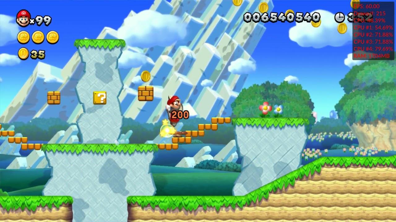 Cemu 1 16 0 WIP 1 Vulkan   New Super Mario Bros  U Gameplay