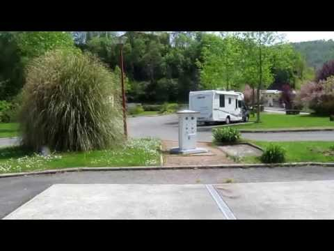 Motorhome aire in Boisse-Penchot, Aveyron, France