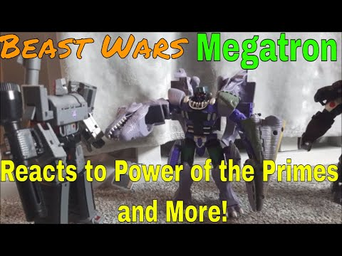 Beast Wars Megatron Reacts to Power of the Primes, Transformers HOF and John Cena's Movie Role