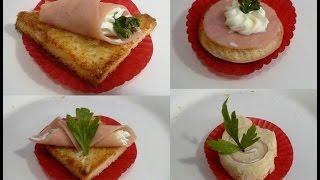 canape de jamon, mini chef roger, Receta # 93, canape
