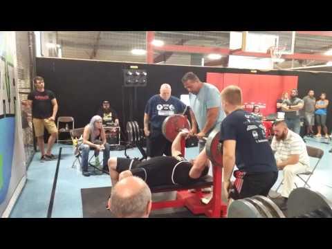 Bench press, WUAP champion, 523 bench press raw, retired last lift, Chad green bench press,raw bench