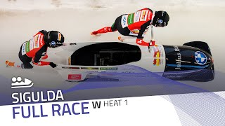 Sigulda | BMW IBSF World Cup 2020/2021 - Women's Bobsleigh Heat 1 | IBSF Official