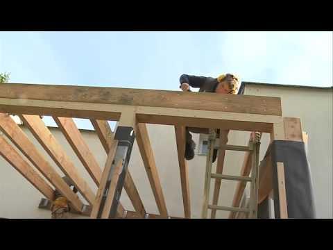 Vidéo de charpentier/ère bois