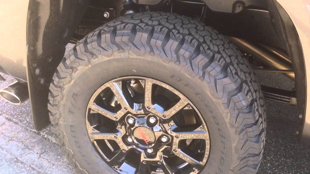 Tundra Limited 2016 >> Toyota Tundra BFG KO2 305/65/18 stock rims - YouTube