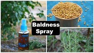 Baldness Cure Hair Regrowth Spray For Men & Women | Alopecia Treatment At Home Naturally