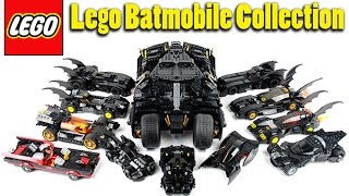 Lego Batmobile Collection Showcase / Highlight April 2016 Update!