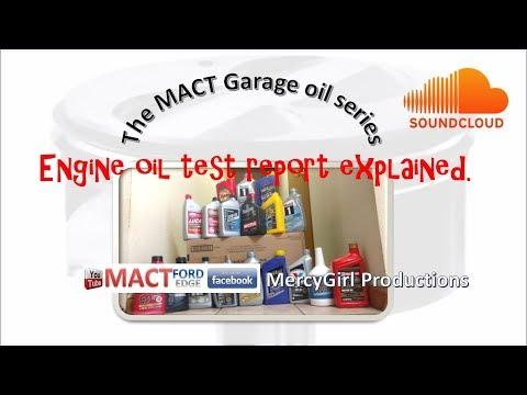 MACT Garage oil testing series explaining the lab report