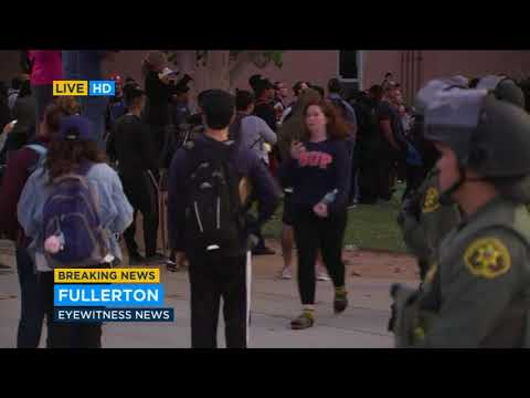 7 arrested outside Milo Yiannopoulos speech at Cal State Fullerton