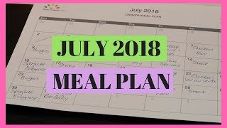 EASY WAY TO MEAL PLAN MONTHLY || JULY MEAL PLAN || DINNER IDEAS