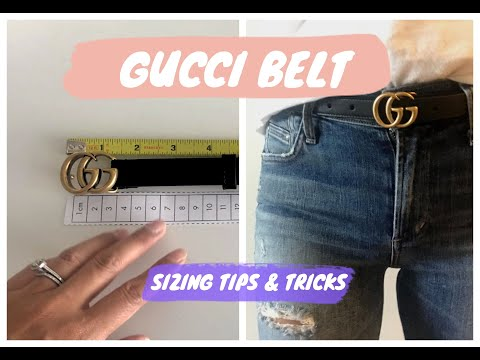 GUCCI MARMONT BELT | SIZING TIPS, TRICKS & TRY-ON