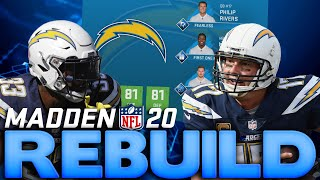 We Draft A Fast Superstar X Factor WR! Rebuilding the Los Angeles Chargers! Madden 20 Rebuild