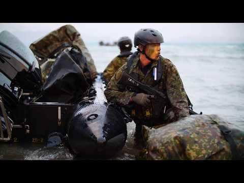 Talisman Saber 2019: Japan Self-Defense Forces Zodiac Landing BOWEN, QLD, AUSTRALIA 07.21.2019