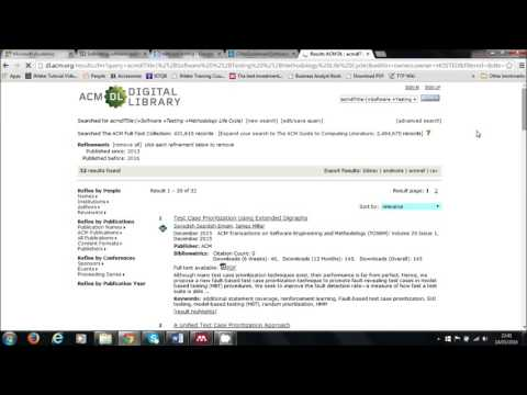 ACM Classification Database