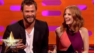 Chris Hemsworth Tried Regifting Jessica Chastain's Gift Back To Her | The Graham Norton Show