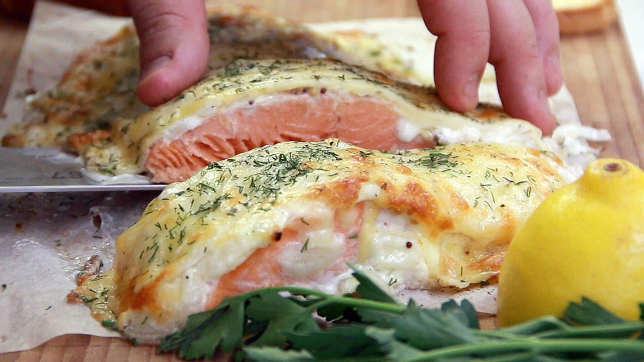 рыба в сырной шубе