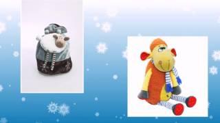 Новогодние сладкие подарки для детей. Детские новогодние подарки(Детские сладкие новогодние подарки, вложенные в мягкие игрушки, можно приобрести на московской кондитерск..., 2014-12-22T16:11:19.000Z)