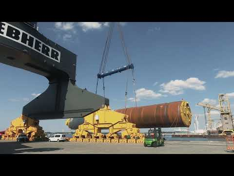 Liebherr - We heavy-lift your project: Monopiles for wind farm