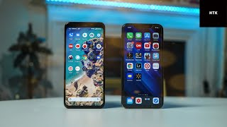 Google Pixel 4 XL vs iPhone 11 Pro Max Speed Test & Antutu Benchmark Comparison