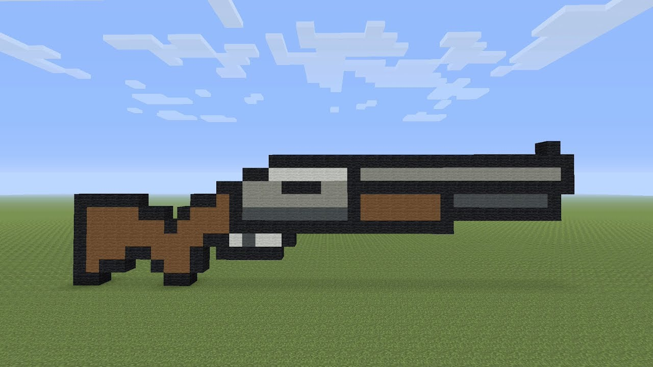 Minecraft Pixel Art Fortnite Shotgun