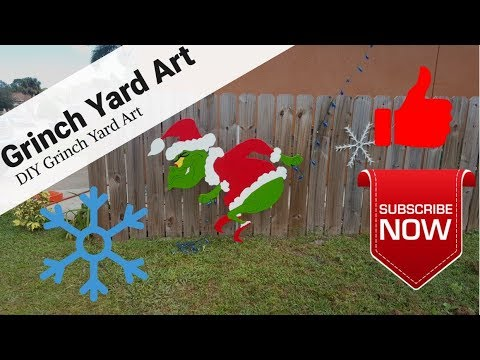Grinch | Yard Art | DIY | How the Grinch Stole Christmas | PDF