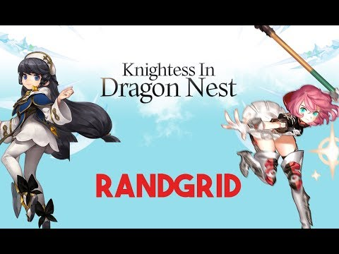 Dragon Nest Korea - Randgrid Skills - YouTube