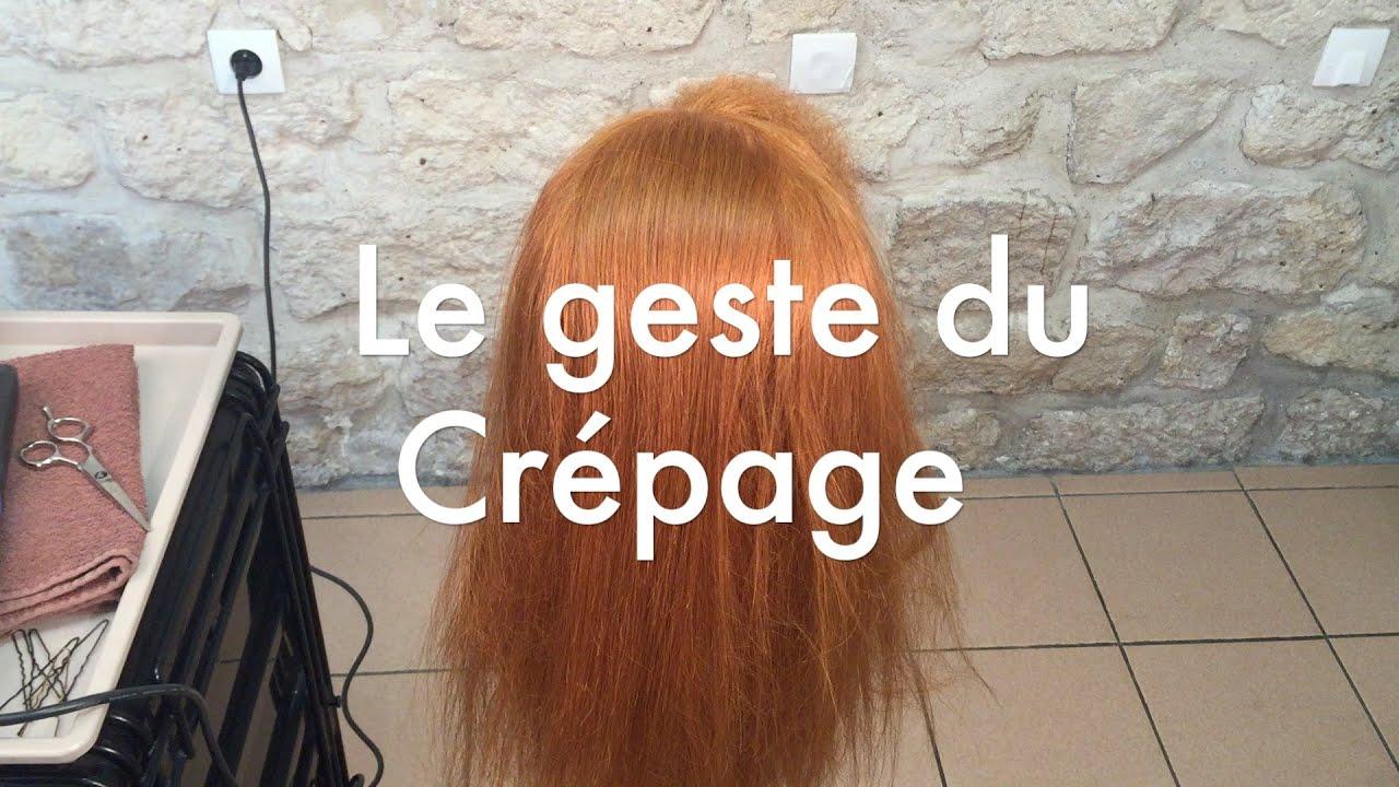 Tutoriel coiffure chignon crêpage - YouTube