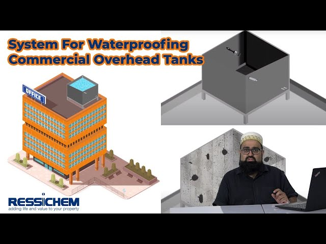 Proposed Waterproofing system and products for Commercial Concrete Overhead Tanks #Waterproofing